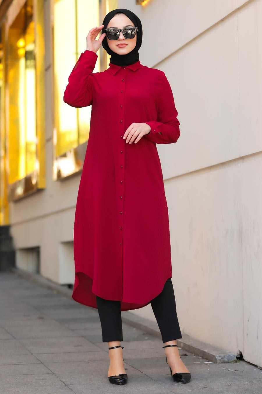 Red Hijab Tunic 4000K