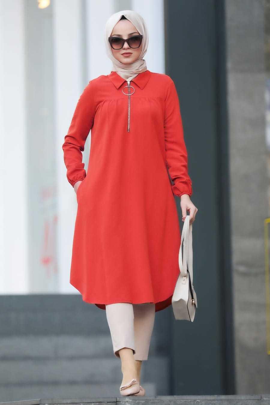 Reddish Orange Hijab Tunic 467NC