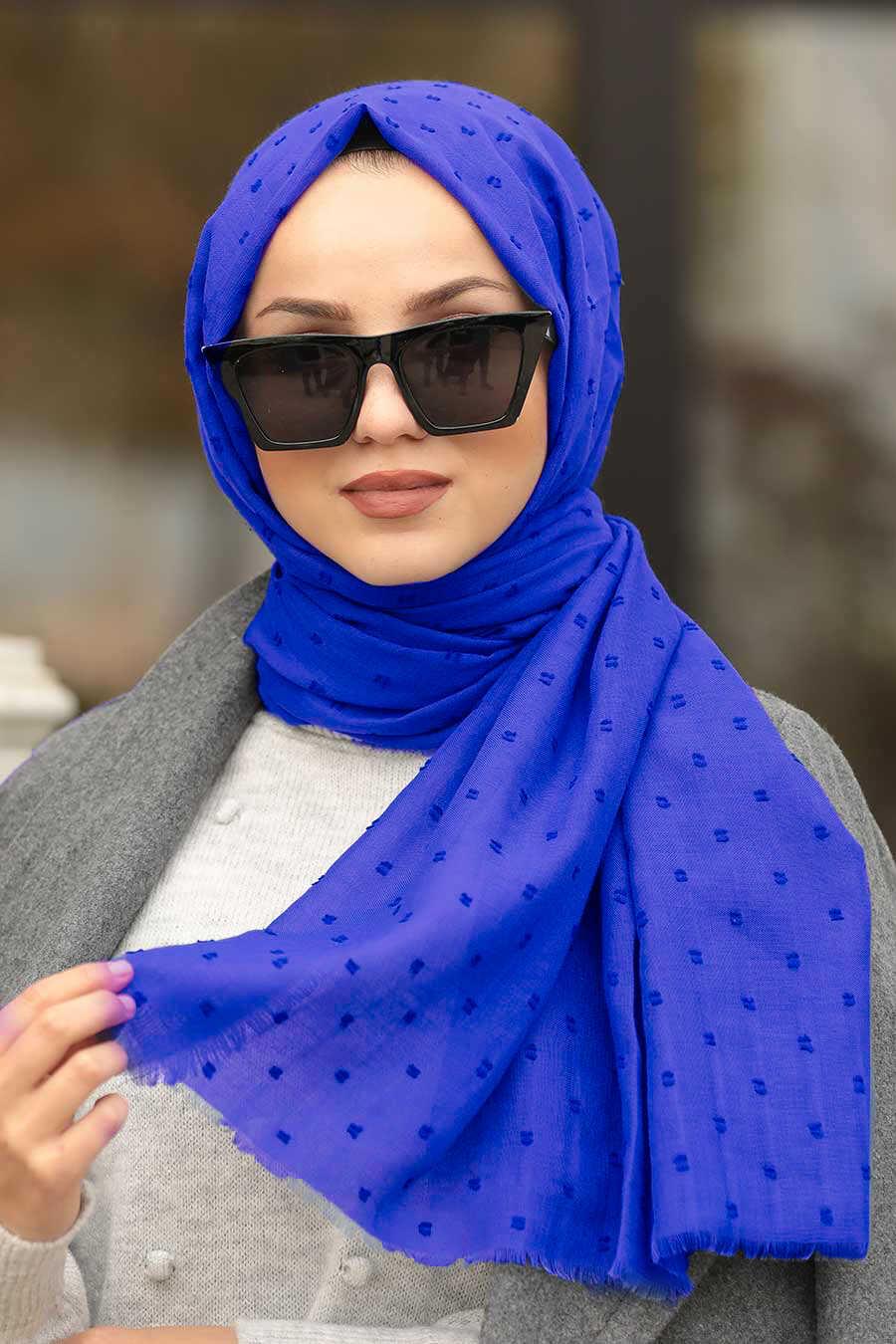 Sax Blue Hijab Shawl 7470SX