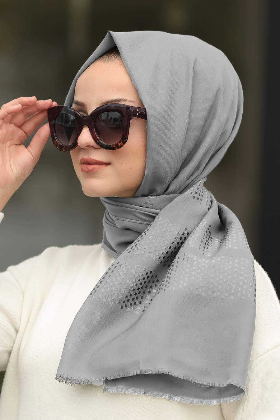Smoke Color Hijab Shawl 7505FU