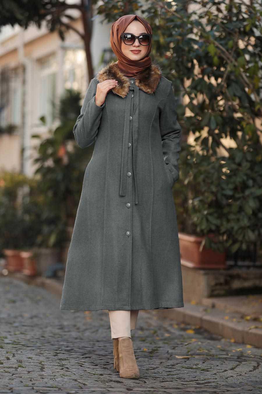 Smoked Hijab Coat 50840FU