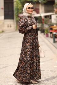 Sunuff Colored Dress 44671TB - Thumbnail