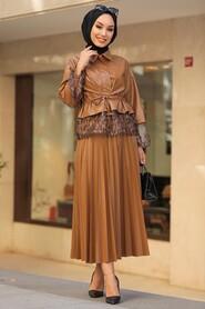 Sunuff Colored Dual Suit Dress 1294TB - Thumbnail