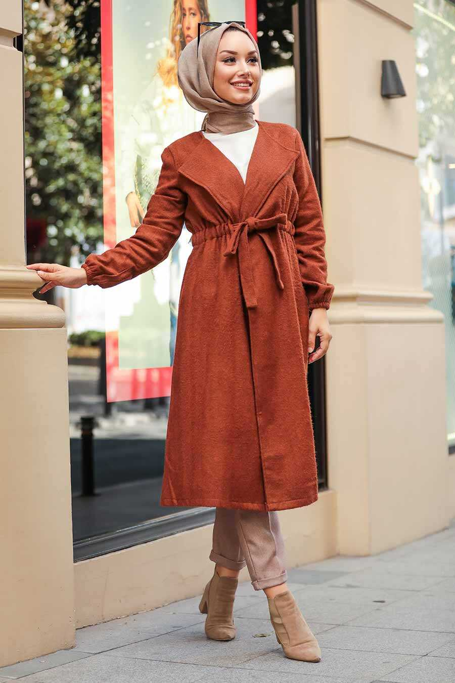 Sunuff Colored Hijab Coat 5168TB