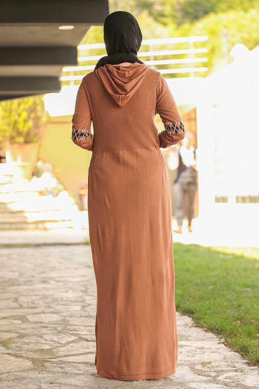 Sunuff Colored Hijab Dress 2243TB
