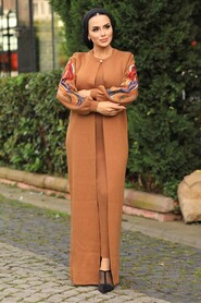 Sunuff Colored Hijab Dual Suit Dress 2200TB - Thumbnail
