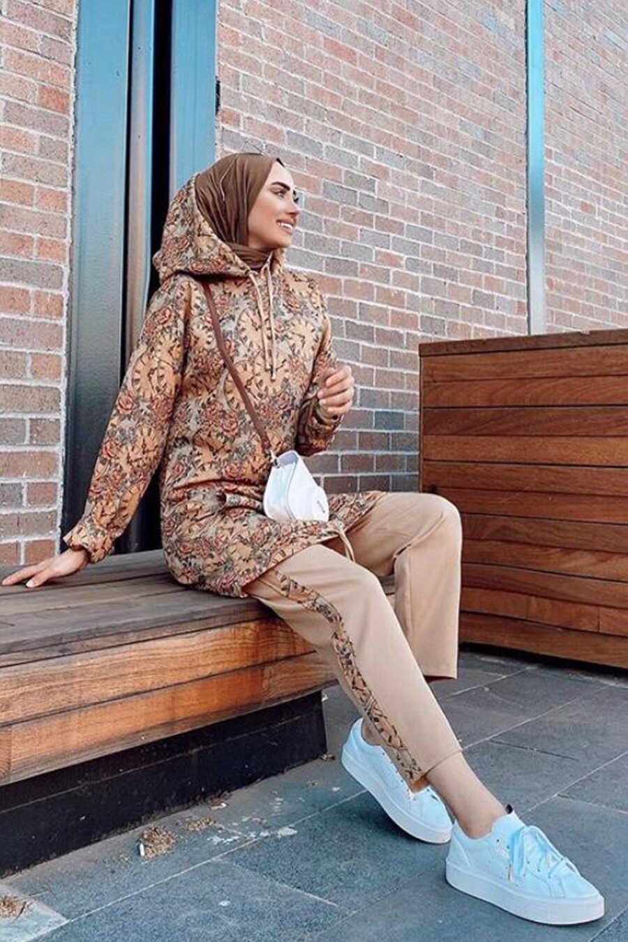 Sunuff Colored Hijab Suit 8041TB