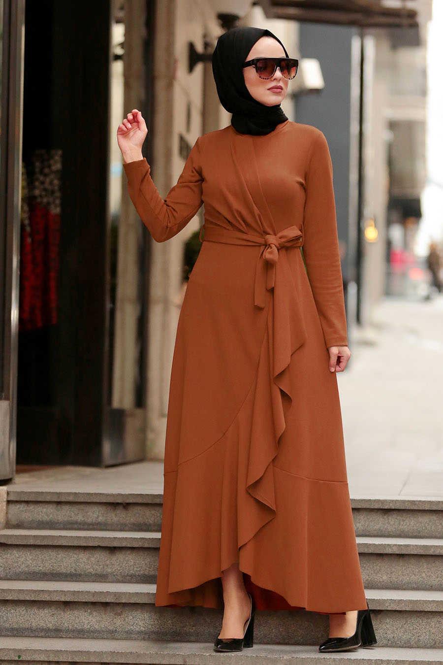 Taba Tesettür Çapraz Elbise 4041TB