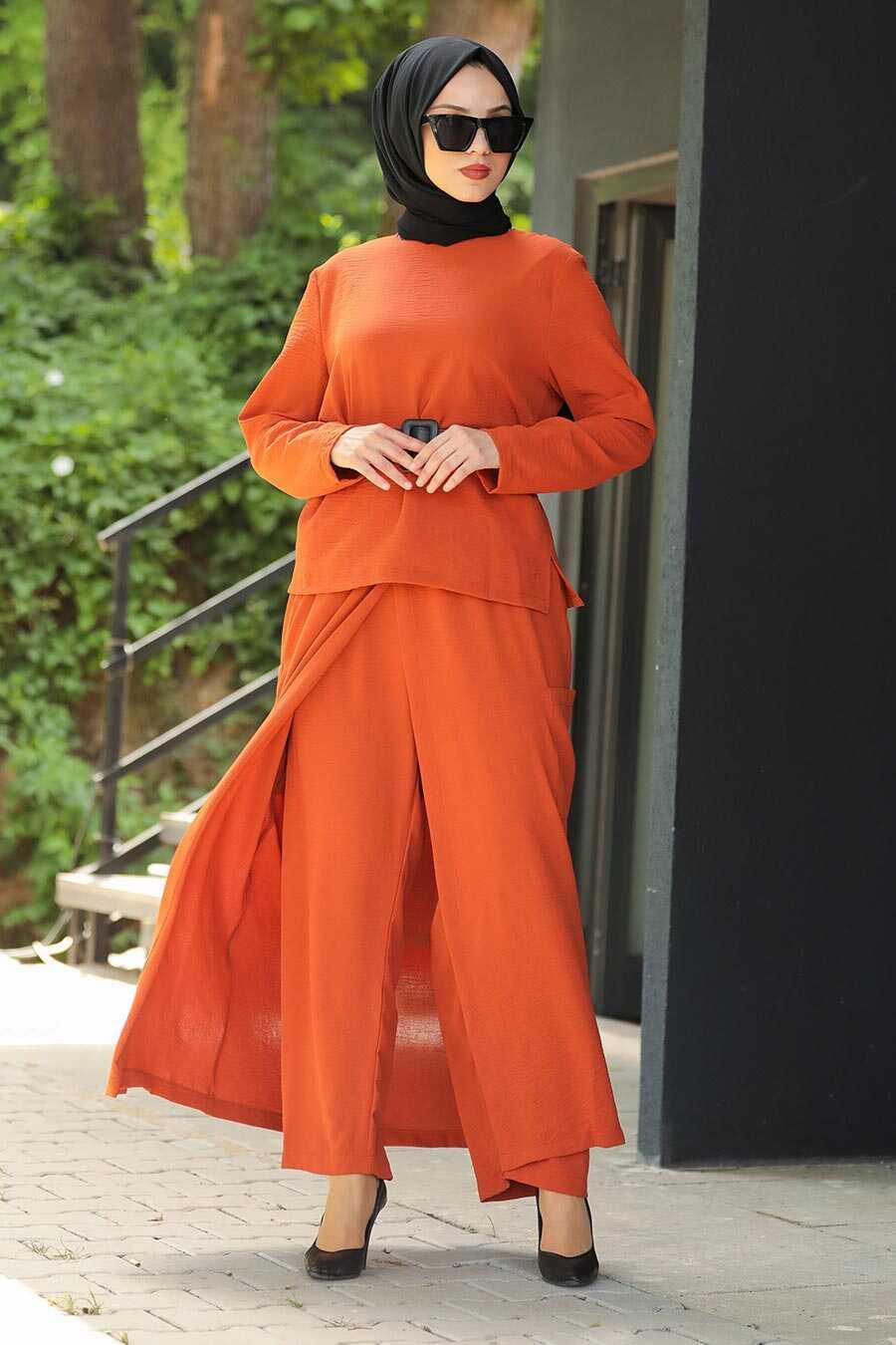 Terra Cota Hijab Dual Suit Dress 12801KRMT