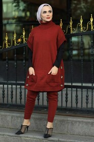 Terra Cotta Dual Suit Dress 7652KRMT - Thumbnail