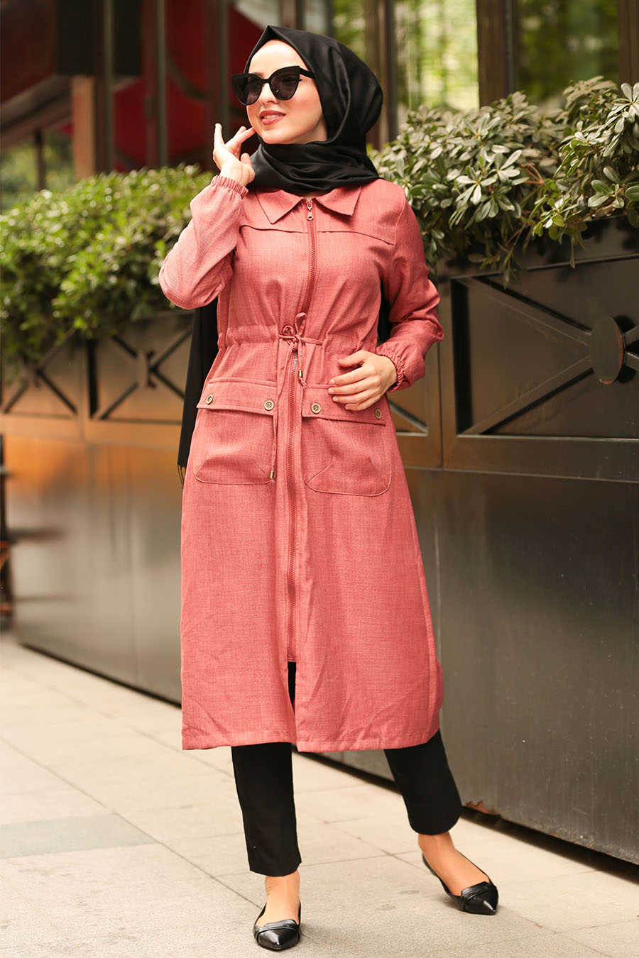 Neva Style - Terra Cotta Hijab Daily Dress 56770KRMT