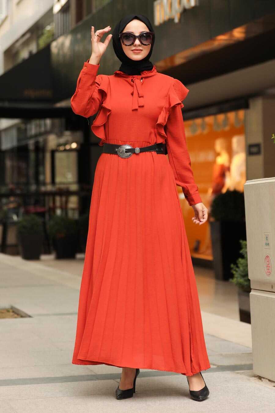 Terra Cotta Hijab Dress 4434KRMT