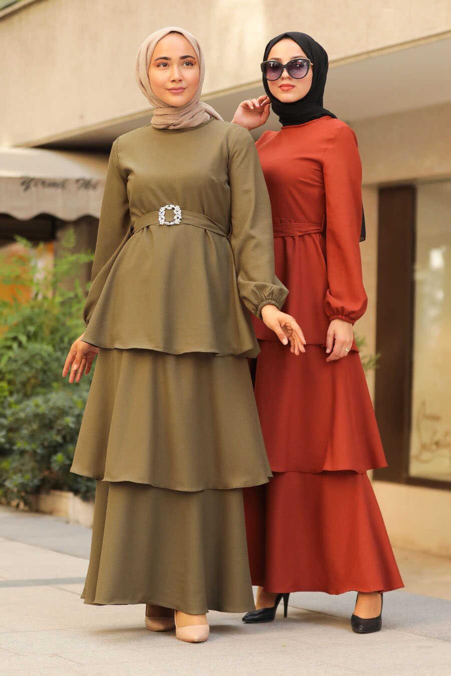 Terra Cotta Hijab Dress 5171KRMT