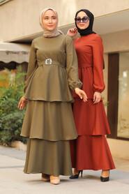 Terra Cotta Hijab Dress 5171KRMT - Thumbnail