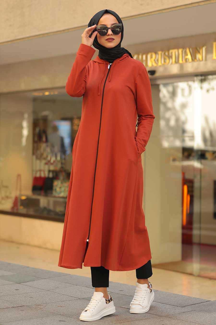 Terra Cotta Hijab Tunic 22560KRMT