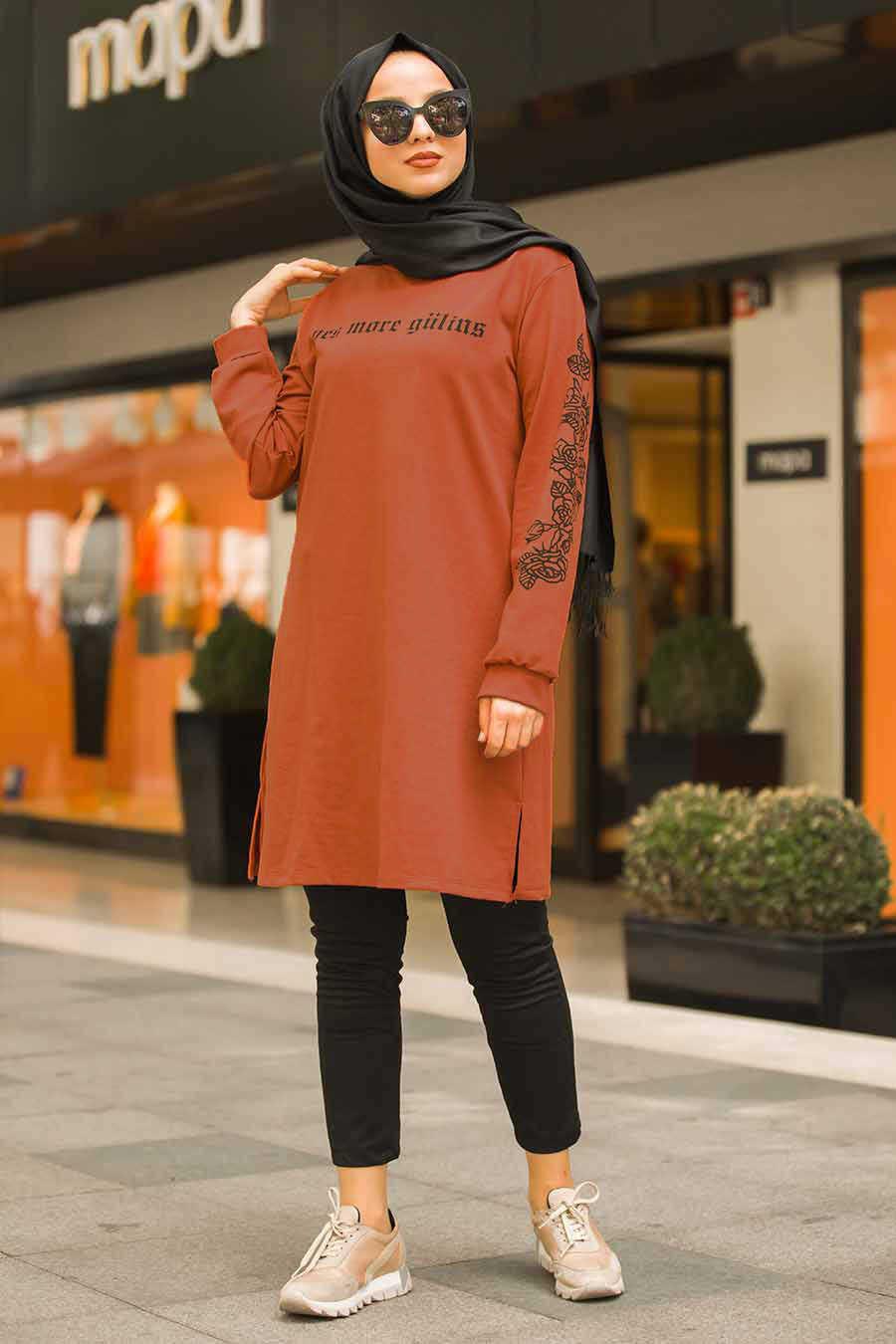 Terra Cotta Hijab Tunic 41240KRMT