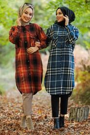 Terra Cotta Hijab Tunic 5579KRMT - Thumbnail