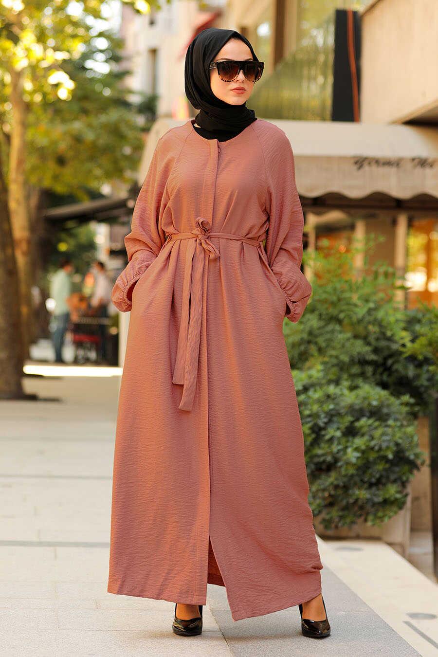 Terra Cotta Hijab Turkish Abaya 40921KRMT