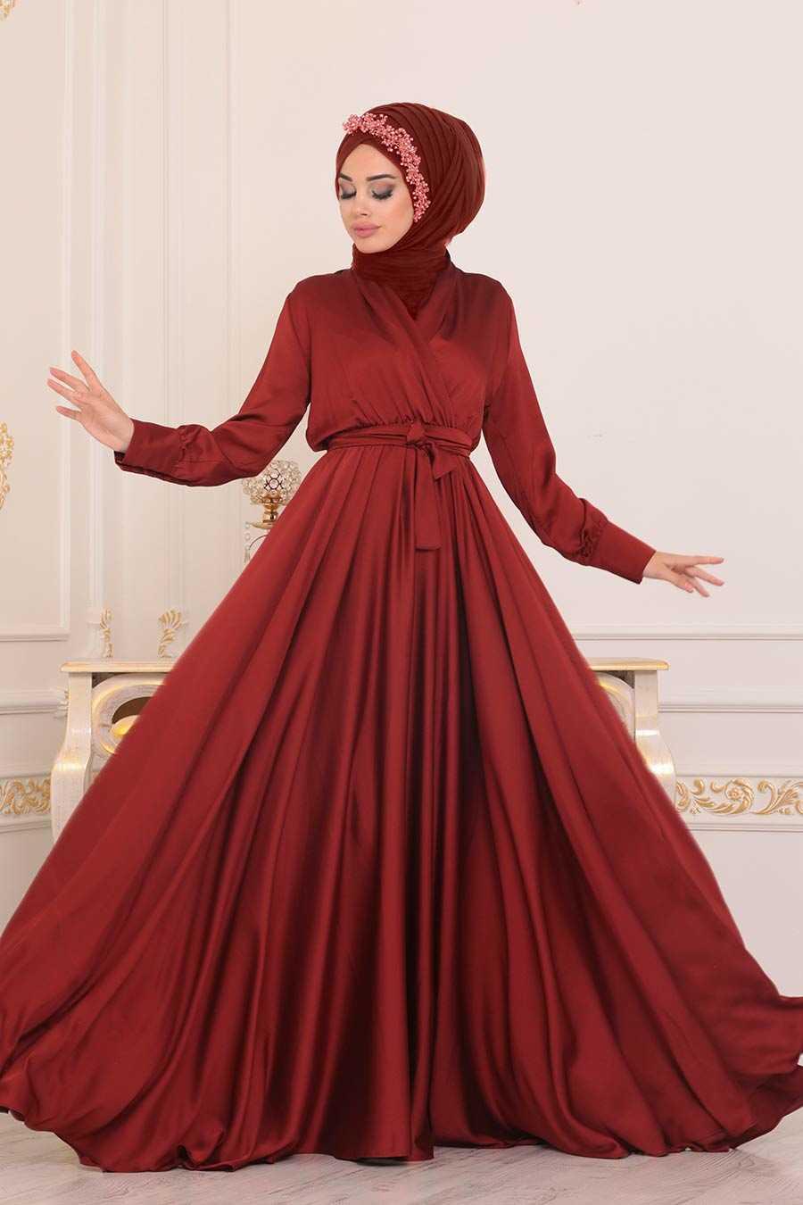 Terra Cotta Hijan Evening Dress 1418KRMT